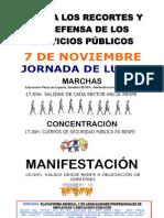 CONTRA LOS RECORTES Y EN DEFENSA DE LOS SERVICIOS PÚBLICOS