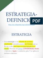 ESTRATEGIA-DEFINICIÓN