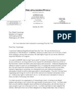 Cummings 29 October Letter
