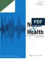Effects of Industiral Wind Turbine Noise on Sleep and Health- Nissenbaum, Aramini, Hanning