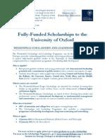 Flyer - Oxford Scholarship