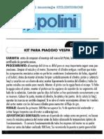 Instrucciones cilindro Polini para Vespa