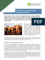 CONDICIONES Y PROCEDIMIENTOS PARA APROBACIÓN DE IMP. PARA PRODUCTOS AGRICOLAS EN EUROPA