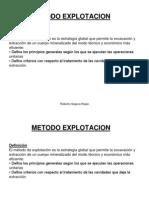 METODO EXPLOTACION