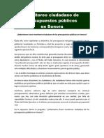 Monitoreo ciudadano del presupuesto público en Sonora Hz