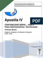 Apostila Contabilidade Geral 04 Atos e Fatos Administrativos 2011