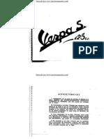 Manual de propietario Vespa 125S 1958