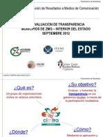 Presentación Resultados CIMTRA Octubre 2012