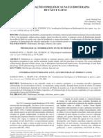 CONSIDERRAÇÕES FISIOLÓGICAS NA FLUIDOTERAPIA EM CÃES E GATOS
