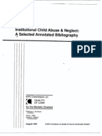 Institutional Child Abuse & Neglect - A Selected Annotated Bibliography