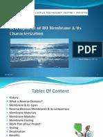 Development of RO Membrane & Its Characterization2003.ppt