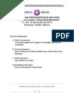 VIII Enc Red e Mun Desarrollo Desigual de Las Regiones de Tamaulipas 17 19 OCT 2012