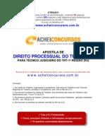 Apostila de Direito Processual do Trabalho para Técnicos do TRT-1ª Região (RJ) - 2012