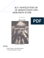 The Blue Mountains UFO Research Club Newsletter - March 2010