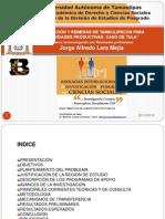 Presentación 3 Jornadas Investigación Avance Tesis JLM. 25.10.12. 2