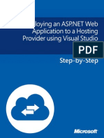 Deploying an ASP.net Web Application to a Hosting Provider Using Visual Studio