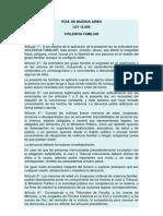 Pcia de Bs as - Ley 12569 - Violencia Familiar