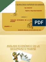 Análisis económico de la seguridad e higiene EQUIPO 4
