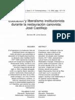 Educación y liberalismo_José Castillejo