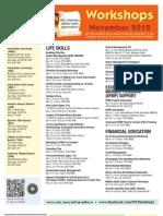 FFSC Workshop Calendar November 2012
