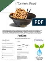 Order Fresh Turmeric Root