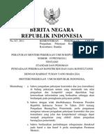 Permen PU 07 PRT M 2011 Ttg Standar Dan Pedoman Pengadaan Pekerjaan Konstruksi Dan Jasa Konsulta