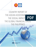 COUNTRY REPORT OF THE ASEAN ASSESSMENT ON THE SOCIAL IMPACT OF THE GLOBAL FINANCIAL CRISIS THE PHILIPPINES