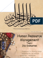 Job Evaluation in Human Resource Management