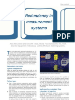 Redundancy in Measurement Systems