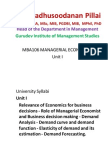 Managerial Economics - Unit 1