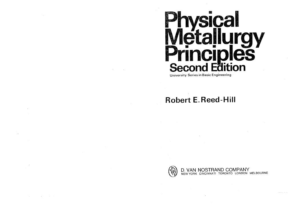 physical metallurgy principles r e reed hill rh fr scribd com physical metallurgy principles reed hill solution manual physical metallurgy principles reed hill solution manual