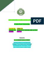 f Den 323 Food Plant Design