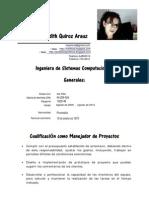 Curriculo Ing. Maika Quiroz