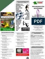 Programación mes de Noviembre El cerro Coslada
