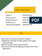 Buyer Supplier Relationships