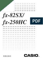 Manual Calculadora Casio Fx82
