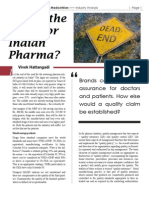 Is this the End of the Road for Indian Pharma