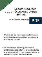 La doble contingencia como núcleo del orden social