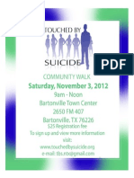 Touched by Suicide Wall 2012