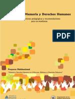 Educación, memoria y ddhh- Orientaciones pedagógicas y recomendaciones para su enseñanza