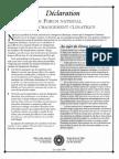 Déclaration du forum national sur le changement climatique