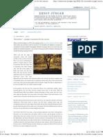 Ernst Jünger_ _November_ - a Jünger translation for the season