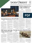 The Bowdoin Orient - Vol. 142, No. 7 - October 26, 2012
