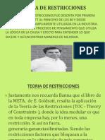 Diapositivas de Las Teorias de Las Restricciones