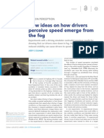New ideas on how drivers perceive speed emerge from the fog