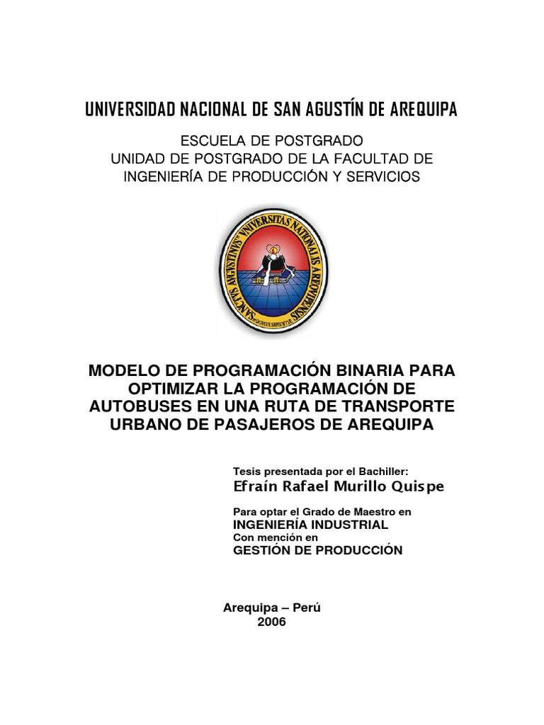 Modelo de Tesis Unsa