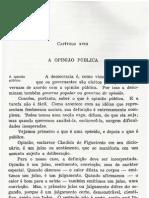 Introdução à Ciência Política - Darcy Azambuja (Capítulo XVIII - A Opinião Pública)