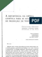 14 - A Importância da Crítica Genética Para as Aulas de Produção de Textos