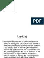 Archives Management