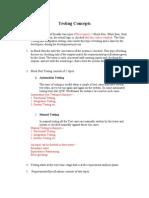 Testing Basic Concepts